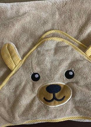 Полотенце детское с капюшоном