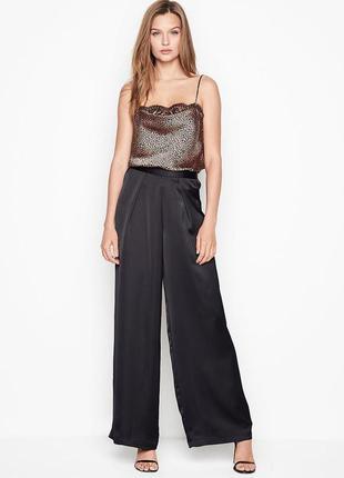 Черные женские штаны victorias secret сатиновые брюки пижама