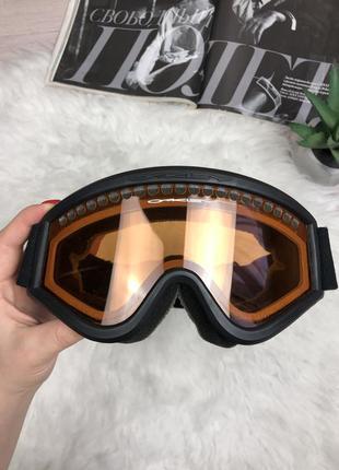 Фирменная горнолыжная маска очки oakley