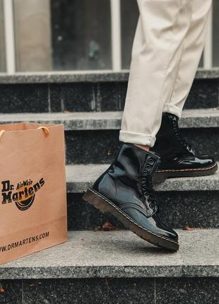 Шикарные женские ботинки dr. martens 1460 black / мех / за подписку скидка