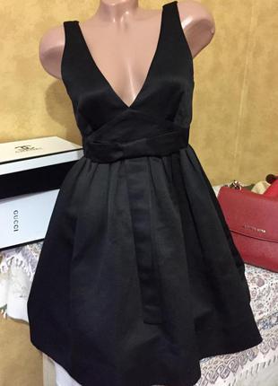 Шикарное нарядное платье сарафан 38р вечернее платье!