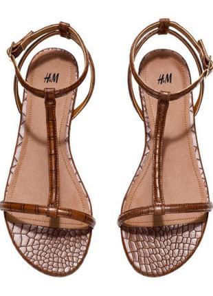 Стильные босоножки, сандалии , бренд h&m, размер 37,38,39,40