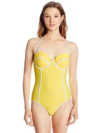 Body glove оригинал купальник желтый бренд слитный из сша р. l