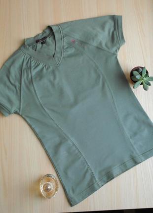 Спортивная футболка зеленая s голубая