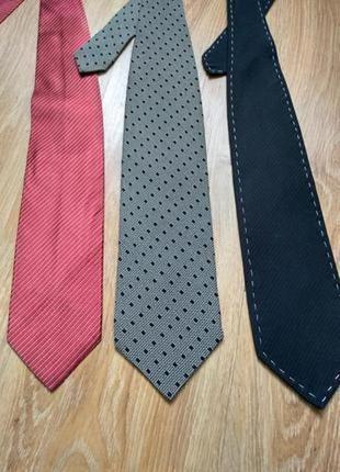 Giorgio armani комплект лот из трёх галстуков