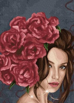 "Картина по номерах ""леді в розах"""