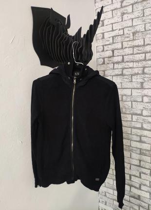 Кофта с капюшоном armani exchange zip hoodie