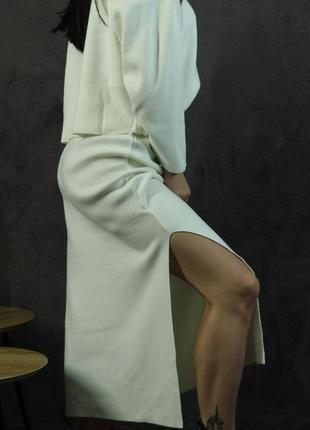 Тёплый костюм с юбкой три цвета