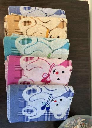 Полотенца лицевые, для рук 50х90см, мишки