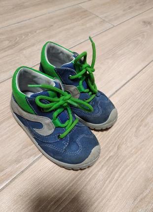 Кожаные ботинки ботиночки