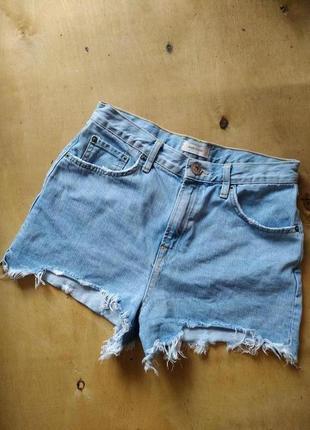 Шорты с высокой талией посадкой в стиле мам мом джинс mom jeans