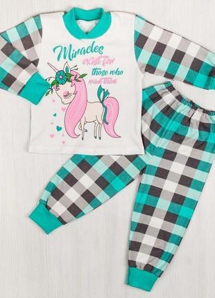Пижама интерлок бирюзового цвета