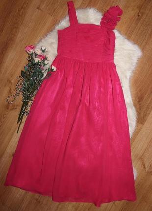 Шикарное длинное платье tu на 7-8л