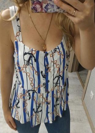Новая лёгкая блуза в актуальный принт