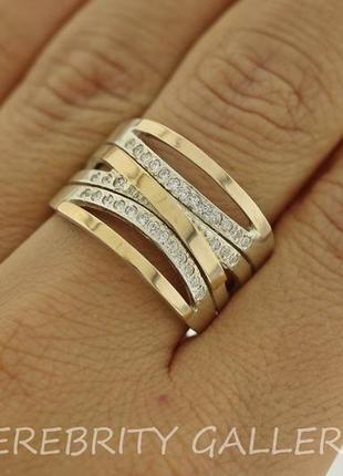 Серебряное кольцо j 011 gd w 20 серебро 925