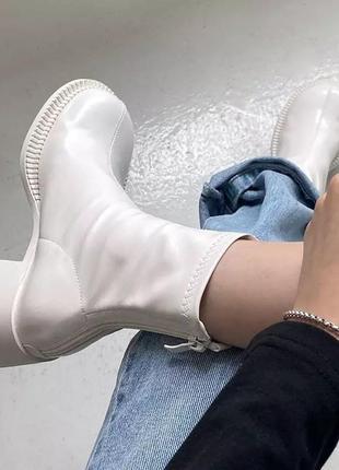 Полусапожки на квадратном каблуке ботинки ботильоны