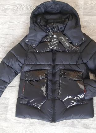 Пуховик,новая зимняя куртка на пуху, 100% био пух лебяжка,лаковая