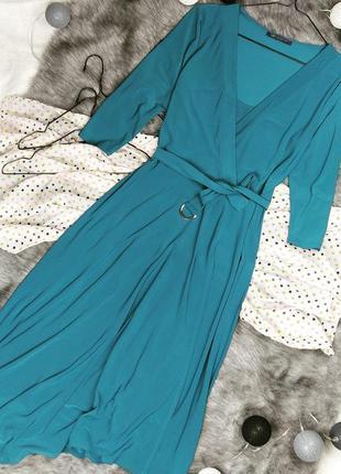 Платье с драпировкой на запах marks & spencer