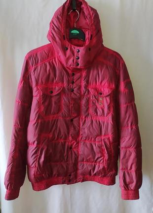 Мужская дизайнерская дутая зимняя куртка hugo boss orange dyed оригинал
