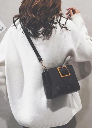 Женская маленькая сумочка из эко замша