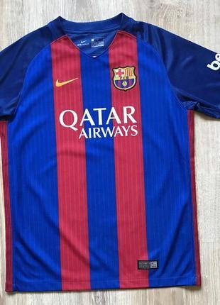 Подростковая футболка футбольная форма nike fc barcelona junior 2015