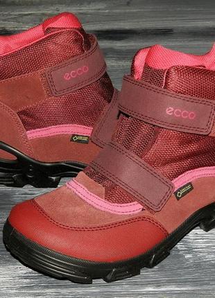 Ecco snowboarder оригинальные, кожаные, невероятно крутые термо ботинки