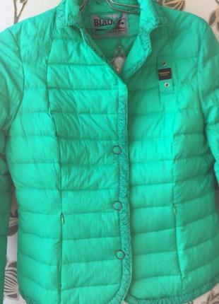 Blauer дорогой бренд оригинал новый пуховик пуховая куртка стеганка нат пух