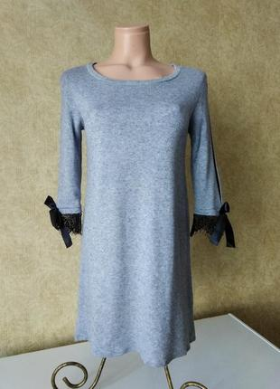 Мягкое трикотажное платье