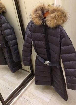Новий.пуховик зимовий преміум брендовий moncler fox fur & new down classe 1 . oригінал