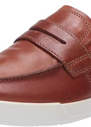 Кожаные туфли-лоферы ecco р.45. новые
