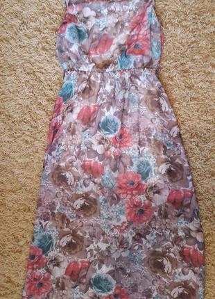 Шифонове довге плаття