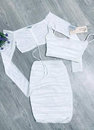 Комплект юбка и два топа английского бренда oh polly