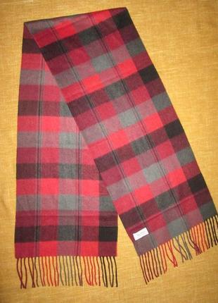 Кашемировый шарф в клетку enzo mantovani италия 100% кашемир
