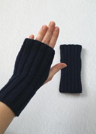 Темно - сині жіночі мітенки