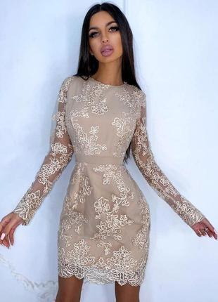 Изящное кружевное платье