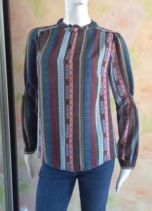 Блуза рубашка из вискозы