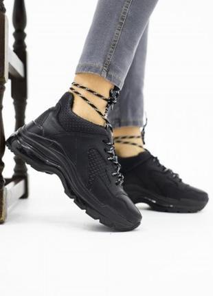 Женские зимние кроссовки из натуральной кожи