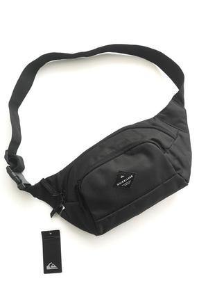 Унисекс чёрная поясная сумка бананка quicksilver
