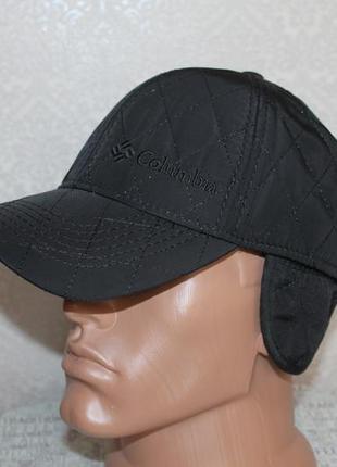 Зимняя кепка на флисе с откидными ушами