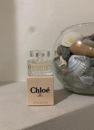 Chloe eau de parfum парфюмированная вода (мини)