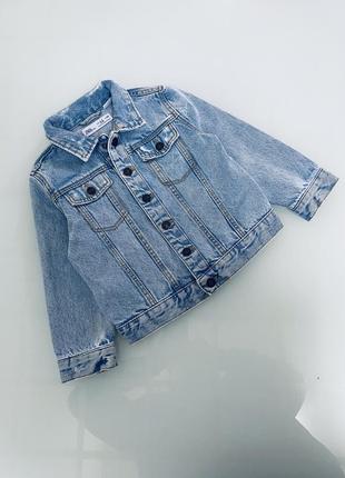 Джинсовая рубашка zara 2-3 года