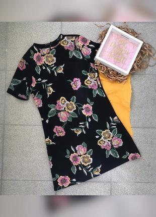 Міні сукня в квітковий принт
