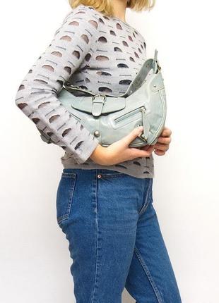 Кожаная сумка marta ponti, натуральная кожа.