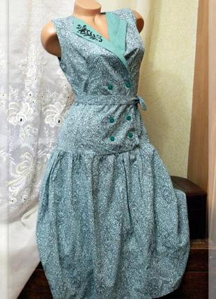 Длинное платье,заниженая талия,ретро,р.m-l