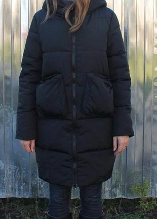 Новая стильная зимняя куртка, черная