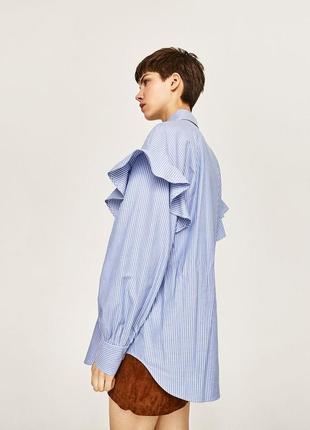 Стильная рубашка в полоску свободный фасон