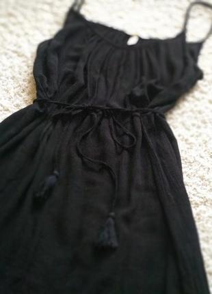 Платье сарафан черного цвета