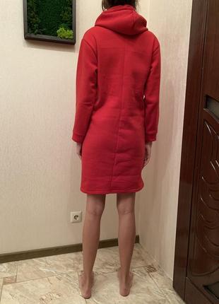 Акция🎁🎁 платье-худи, спортивное платье с капюшоном, тёплое удлинённое худи