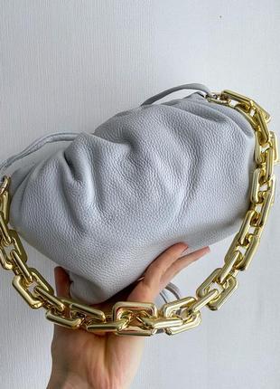 Сумка кожаная в стиле боттега bottega veneta кроссбоди клатч