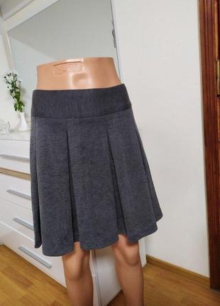 Классическая офисная юбка в складку papaya 10 меланж юбка солнце